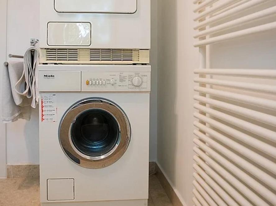 droger op wasmachine
