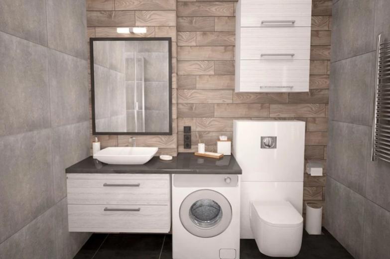 inbouw wasmachine badkamer